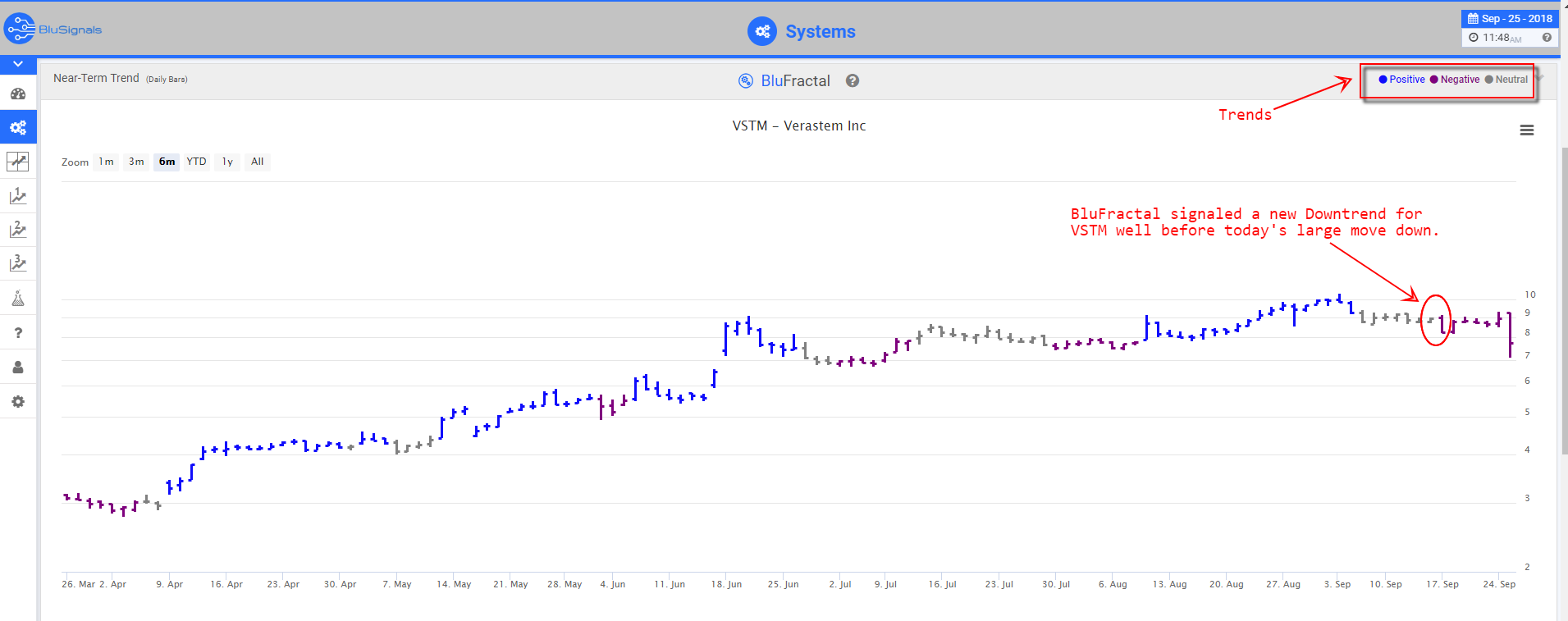 VSTM leading indicators